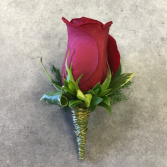 Clean Cut- Red Boutonniere