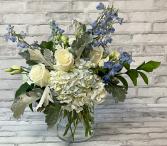 Clear Blue Skies Vase Arrangement