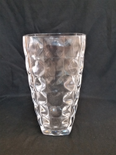 Clear Vase with Dimensional Squares