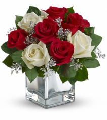Mrs Claus Rose Vase Christmas