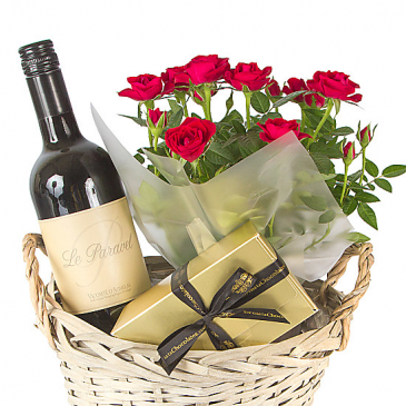 Clearview Key Wine and Roses gift basket Gift Basket