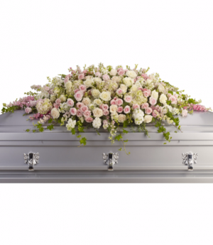 Closed Casket Of Roses...  Funeral  in Dearborn, MI | LAMA'S FLORIST