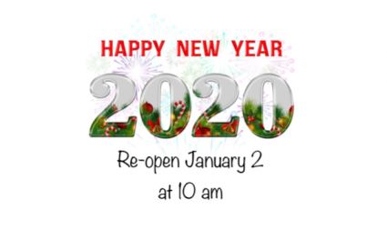 Closed until January 2, 2020