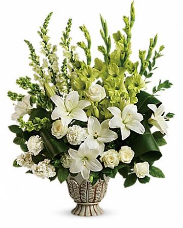 Clouds Of Heaven Bouquet Funeral Bouquet
