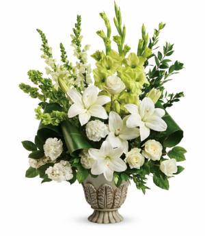 Clouds Of Heaven Bouquet One-Sided Floral Arrangement in Winnipeg, MB | KINGS FLORIST LTD