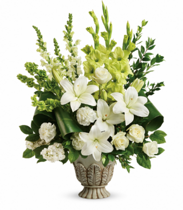 Clouds Of Heaven Bouquet One-Sided Floral Arrangement