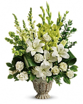 Clouds of Heaven Bouquet Sympathy Arrangement