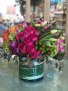 Cluster of Spring Love Glass Cylinder Vase