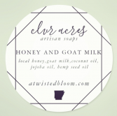 Clvr Acres Honey and Goat Milk Soap