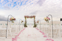 Romance Beach Wedding Arbor