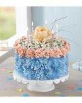 Coastal Birthday Flower Cake