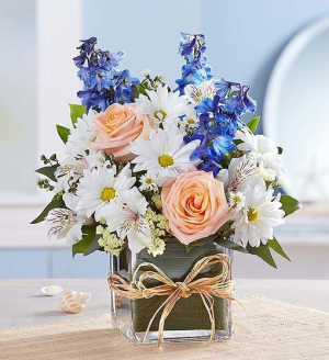 Coastal Breeze Vase Arrangement in Gladewater, TX | GLADEWATER FLOWERS & MORE