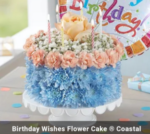 Coastal Dreaming Birthday Cake  in Richmond, MI | The Blue Orchid