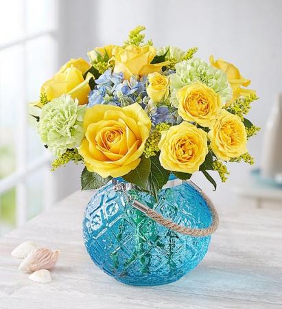 Coastal Garden Repurpose Vase as a Hanging Candle Holder