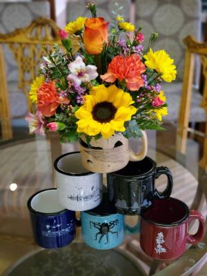 Coastal Vibes Coffee Mug Arrangement  in Tillamook, OR | ANDERSON FLORIST