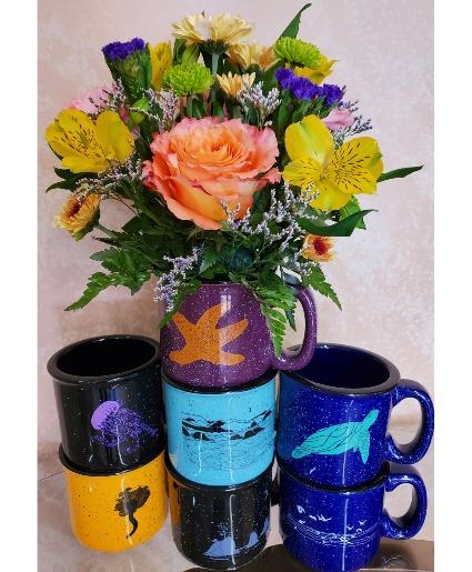 Coastal Vibes Coffee Mug Arrangement