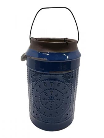 Cobalt Blue Ceramic Candle Holder