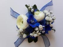 Cobalt Blue Corsage