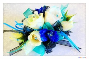COBALT CORSAGE  in Burns, OR | 4B Nursery And Floral