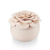 Coconut Milk Flower Candle