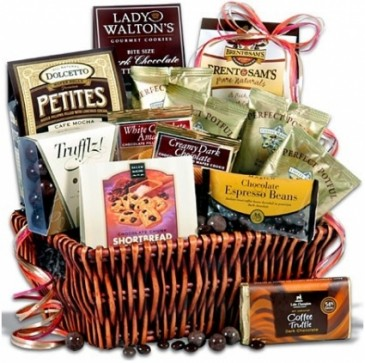 COFFEE & CHOCOLATE GIFT BASKET