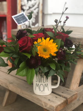 Coffee Cup Arrangement  Mother's Day