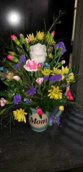 Coffee with Mom Mother's Day Coffee Cup Arrangement