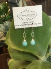 Coin Amazonite Earrings Gift