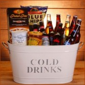 Cold Beer Bucket Gift Basket