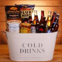 Cold Beer Bucket Gift Basket