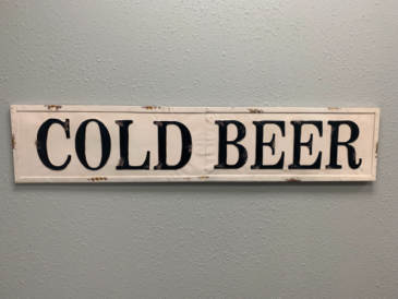 Cold Beer Metal Sign