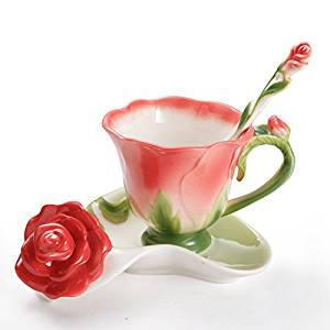 Teacup Set w Fresh Flowers Arrangement $50.95 $55.95