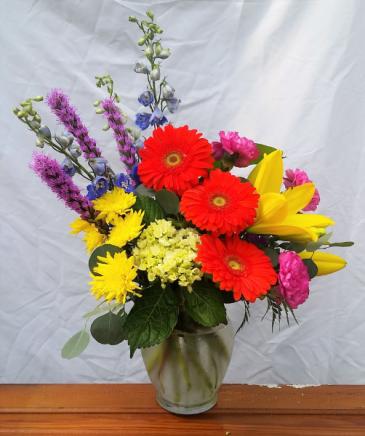 Color Burst Vase Arrangement