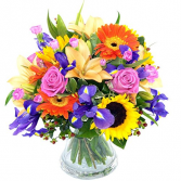 Color Explosion  Vase Arrangement
