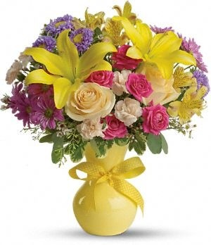 color it happy florial arrangement
