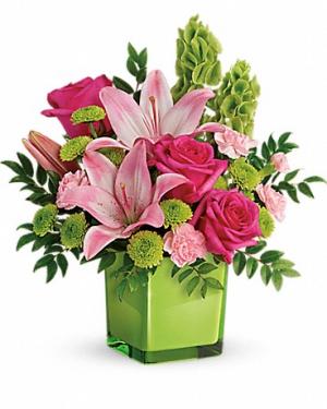 COLOR ME HAPPY Vase Arrangement in Longview, TX | ANN'S PETALS