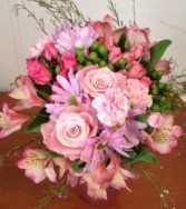 Color Me Pink Bouquet hand tied bouquet