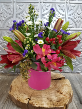 Color Me Pink Fresh Arrangement