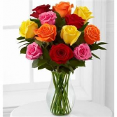 Color Me Roses Arrangement