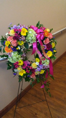 Color My Heart Standing Spray in Cleveland, OH | Segelin's Florist & Gifts
