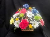 Color My Table Fresh Basket Arrangement