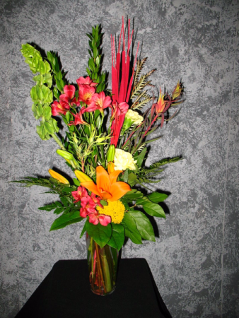 Color My World  Vase Arrangement