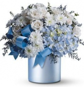 COLOR OF LOVE BLUE ELEGANT MIXTURE OF FLOWERS