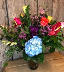 Color Palate Vase Arrangement