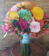 Color Palette Bridal Bouquet