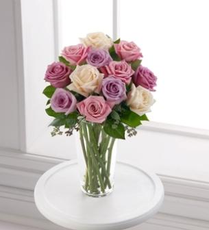 Color Rose Arrangement A Dozen Color Roses