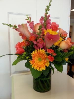 Color Splash Flower Arrangement in Newport, RI | BELLEVUE FLORIST