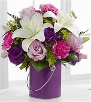 color your day with beauty Tin paint can style in Claremont, NH | FLORAL DESIGNS BY LINDA PERRON