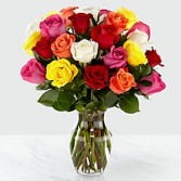 Colored Rose Assortment Valentine