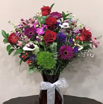 Colorful Affection Vased Arrangement